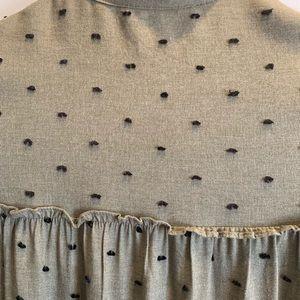 Zara Dresses - Zara Green Long Sleeve Dress